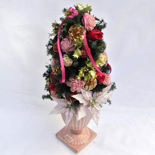 クリスマスギフト プレゼント プリザーブドフラワーギフト ポムノエル クリスマスツリー