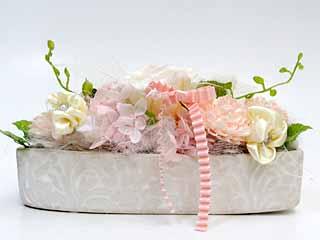 敬老の日に贈るプリザーブドフラワー シャーベットピンク